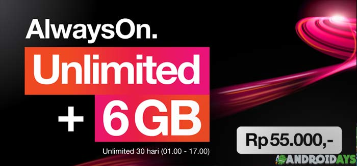 Paket Internet 3 Unlimited AON