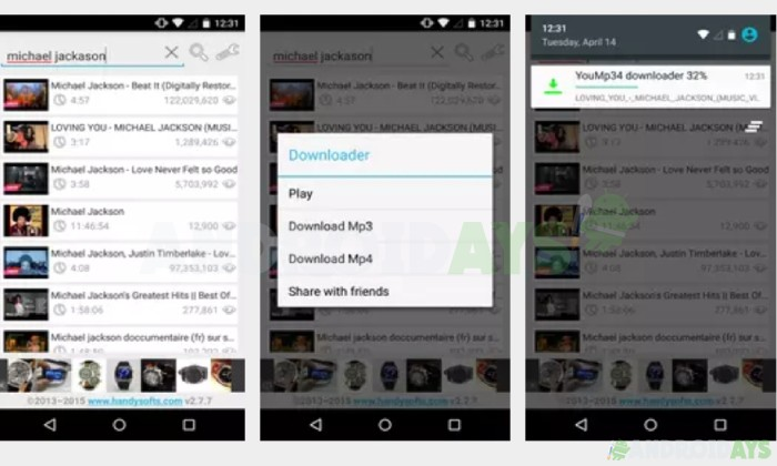 Aplikasi Download Video Andoid Youtube MP3 and MP4 Downloade