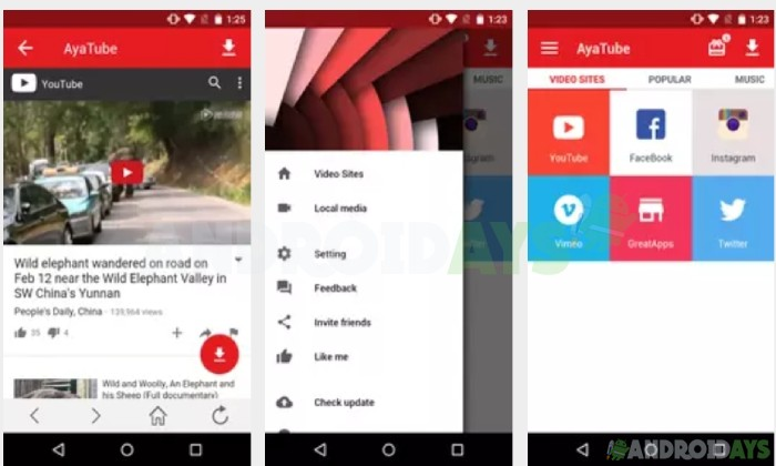 Aplikasi Download Video Android AyaTube Video Downloader
